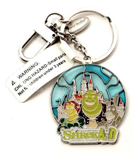 NEW Universal Studios DreamWorks Shrek 4-D Shrek Fiona Donkey Keychain Keyring