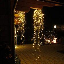 LED Lichterkette Lichterbündel Weide zweige braun 1,80 m 365 LED warmweiß außen