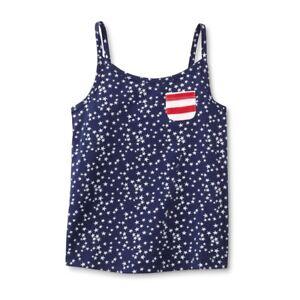 Toughskins White Americana Cami Tank Top Shirt Toddler Little Girls 18M 3T 2T
