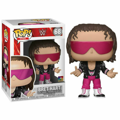 FUNKO POP WWE BRET HART W// JACKET 68 41944 VINYL FIGURE IN STOCK
