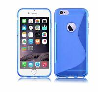 New Gel Silicone TPU Slim Thin Case Cover For Iphone 6/6S in blue