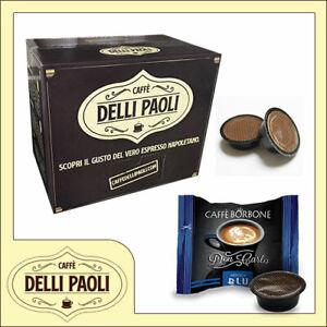 100-capsule-compatibili-Lavazza-Modo-Mio-Caffe-DELLI-PAOLI-100-Borbone-BLU