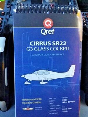 Cirrus SR22 G3 Quick Reference Aircraft Checklist Card by Qref