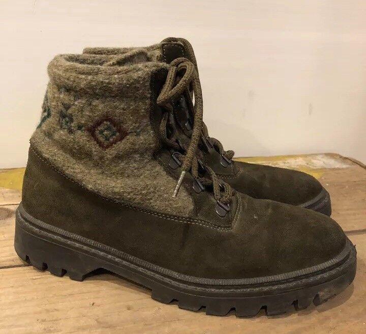Ll Bean para mujer Talla 7.5 39 Lana Lana Lana Cuero Alpine botas De Invierno Nórdico Con Cordones Italia  venta de ofertas
