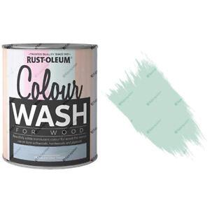 X23-Rust-Oleum-Farbe-Wasch-durchsichtiger-Holz-Fleck-750ml-Minze-Sorbet-Matte