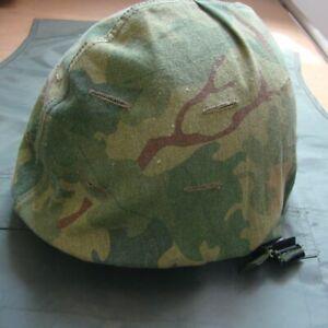 Vietnam War Us Army M1 Helmet Cover Mitchell Camouflage Reversible Splinter Ebay