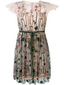 Details About Nwt Red Valentino Fl Embroidered Flower Tulle Dress Size 48 1295