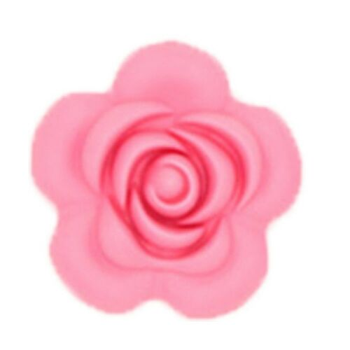 5X 3D Flower Silicone Beads Teething Necklace Baby Teether DIY Making BPA Free