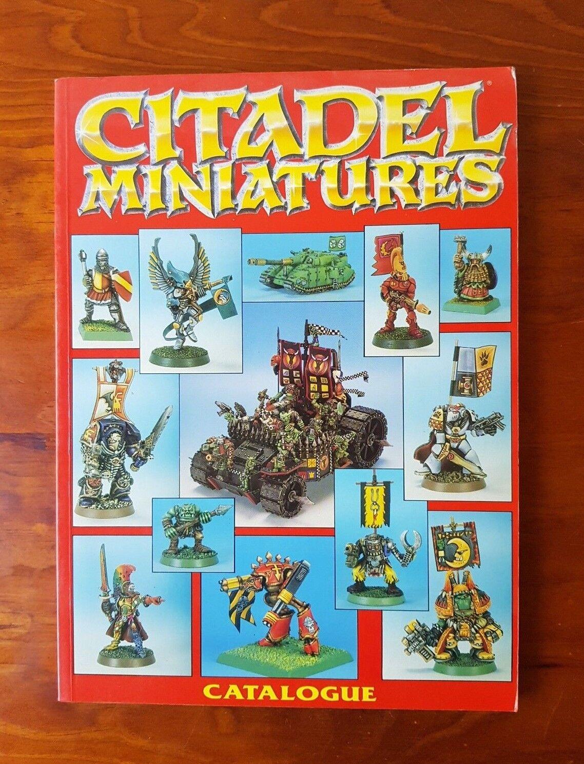 Vintage 1991 Citadel Miniatures Catalogue Section Two Games Workshop RPG Red