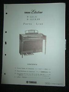 Yamaha Electone B-12I.S B-12IR.SR Part List Catalog Manual B12IS B12IRSR 1975