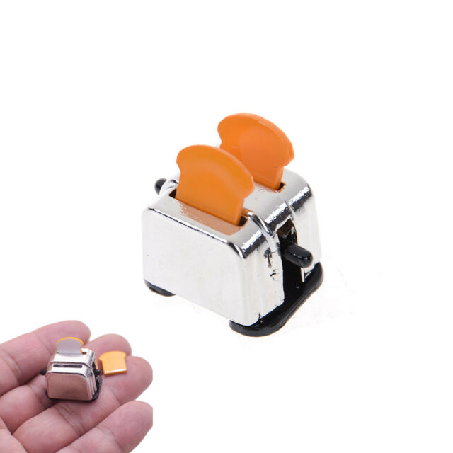 New 1/12 Dollhouse Miniature Decoration Bread Maker with 2 Piece Bread HF