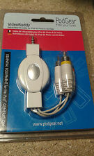 PodGear * Videobuddy * Retractable Sync and Charge AV Cable for iPod iPhone 4 5G