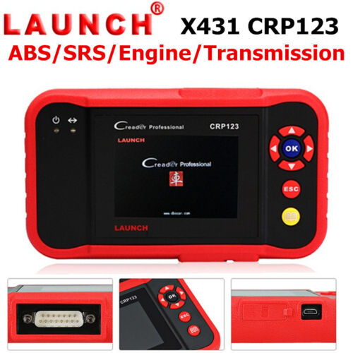 LAUNCH X431 CRP123 OBD2 ABS SRS Engine Transmission Code Reader Diagnostic Tool