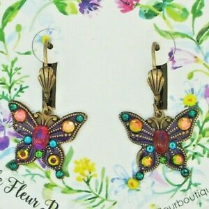 The flight of the Butterfly colored earrings