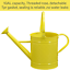 thumbnail 2 - HORTICAN Galvanized Watering Can Modern Style Watering Pot with Handle for Outdo