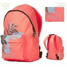 O'NEILL CORAL PINK WOMENS GIRLS BACKPACK RUCKSACK SCHOOL STUDENT SHOPPING SPORTS