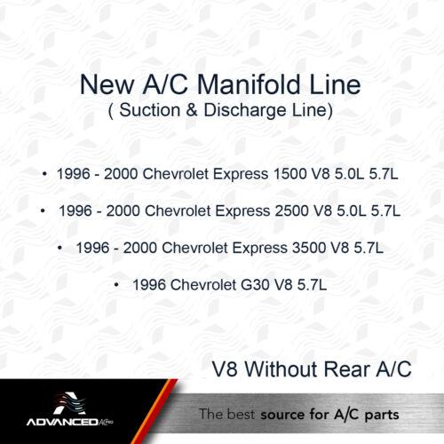 GMC Savana V8 5.0L 5.7L 96-00 Chevrolet Express AC A//C Manifold Line Fits