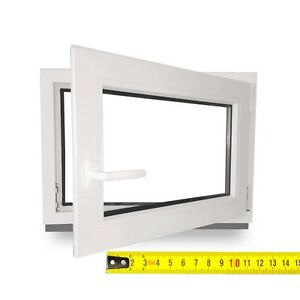 Kellerfenster-Kunststofffenster-Garagenfenster-Dreh-Kipp-Zwischengroessen-LAGER