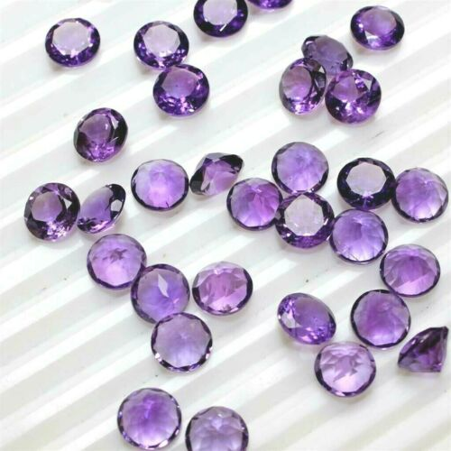 11mm Wholesale Lot 10mm 12mm Round Facet African Amethyst Loose Calibrated Gem