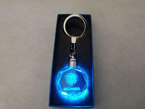 Schlüsselanhänger Scania Kristallglas Leuchtend