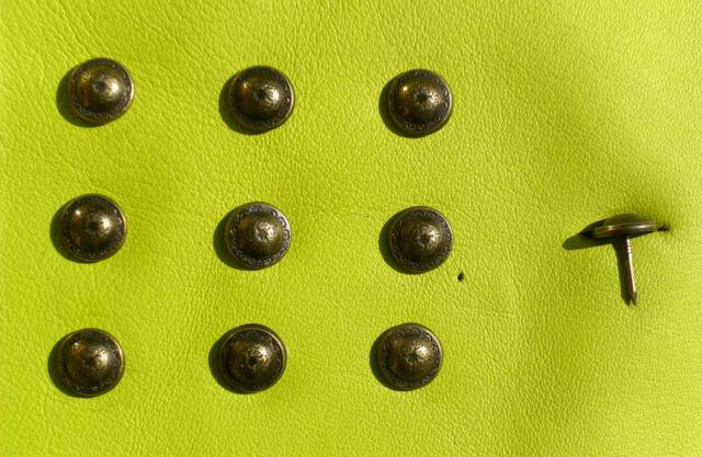 100 Polsternägel, Ziernägel, Ø 12,0 mm, bronce renaissance, Möbelnägel, 567-N