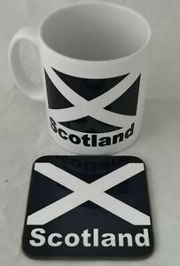 Scotland-mug-amp-coaster-Free-Personalisation-ideal-gift-birthday-fathers-day