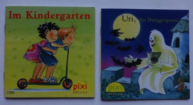 2 Pixi Bücher Im Kindergarten Uri, das Burggespenst Carlsen Serie 155 1382 1386