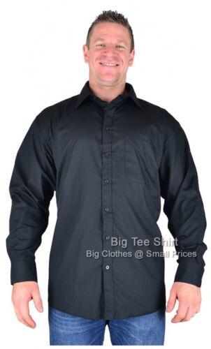 Big Mens Black Espionage Myles Long Sleeve Shirt 2xl 3xl 4xl 5xl 6xl 7xl 8xl