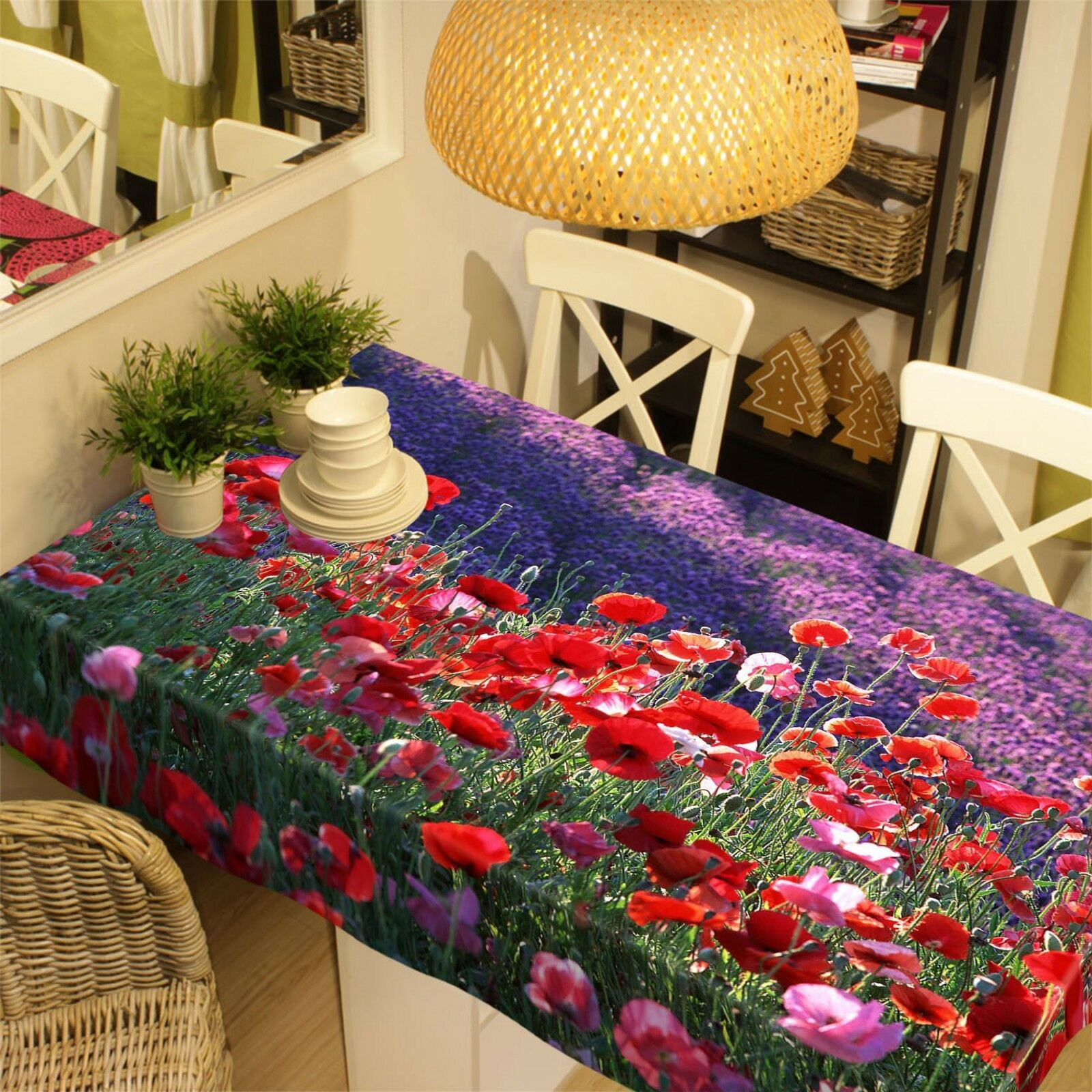 3D rouge Petal Field 05 Tablecloth Table Cover Cloth Birthday Party Event AJ Lemon