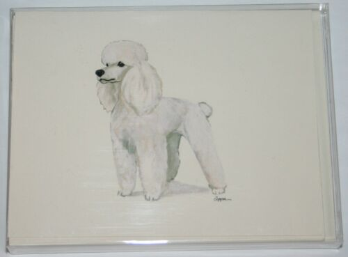 Poodle White Dog Zeppa Studios Fur Children Note Cards Set of 8