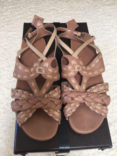 Azzedine Alaia Nude Flat Strappy sandals, 38