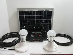 Portable Solar power and LED Lighting System