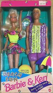 Barbie E Ken Mattel Édition Spéciale Plage Amusante Vintage 93 '