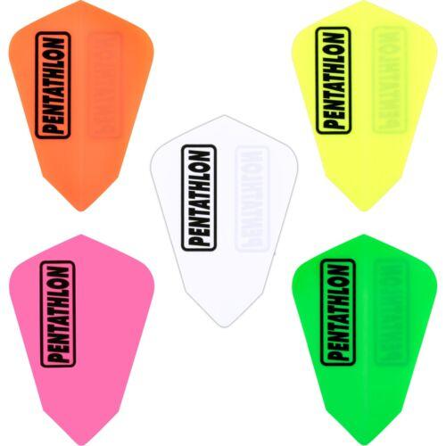 Pentathlon Plain Fantail Dart Flights 1-10 Sets Tough Neon Solid Colours Thick