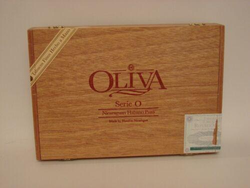 Oliva Empty Cigar Box Serie O Nicaraguan Habano Puro 10 Double Toro 6 x 60