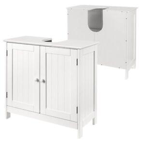Waschbeckenunterschrank-Waschtisch-Badschrank-Unterschrank-Badmoebel-Weiss-HS085