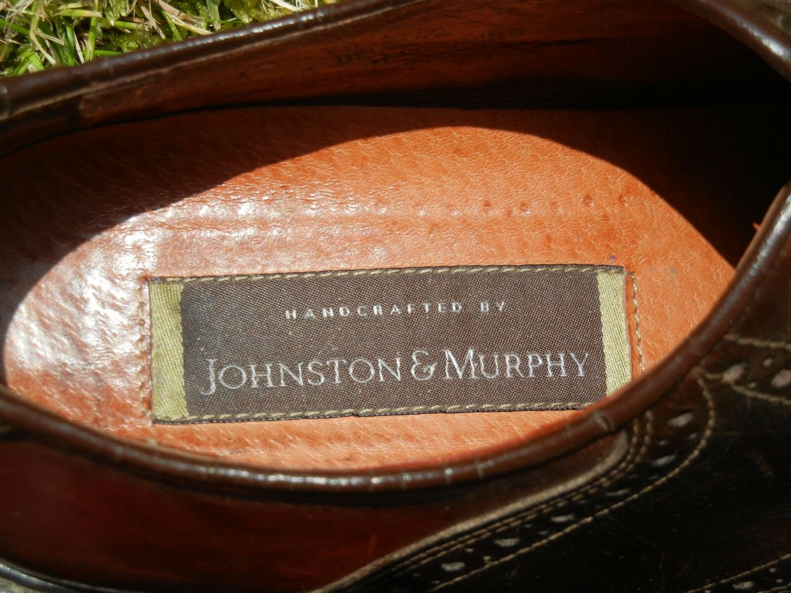 JOHNSTON & MURPHY schuhe schuhe schuhe 9M USA LACE-UP ITALIAN 2 TONE braun ORIGINAL SOLES EU44 0d8c20