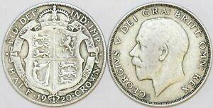 1920-To-1927-George-V-Silver-HalfCrown-Premier-motif-de-votre-choix-date-Annee