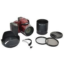 UV CPL FILTER KIT+LENS ADAPTER+HOOD+CAP FOR NIKON COOLPIX P510 P520 P530 67mm