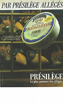 Collectibles Modest Publicite Advertising 1988 Presilege Le Camembert De Normandie Fromage