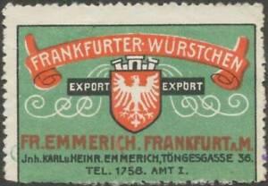 Frankfurt-M-Reklamemarke-Frankfurter-Wuerstchen-400874