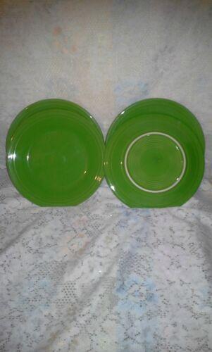 "4 DINNER PLATES set lot shamrock green HOMER LAUGHLIN FIESTA WARE 10.5/"" NEW"