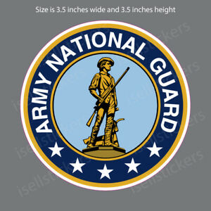 US Army National Guard Seal Insignia Patch Vinyl Graphics Decal Sticker Window