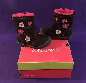 431704c67cb4 NIB JCP CHILDRENS KIDS GIRLS SUEDE BOOTS SHOES US 6 M OKIE DOKIE ...