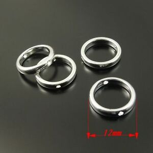Vintage-Style-Alloy-Round-Bead-Frame-Jewelry-Findings-50pcs