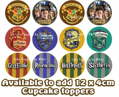 ** Precut ** Icing Harry Potter personnalisé 15 cm Cake Topper /& 15 Extra Toppers