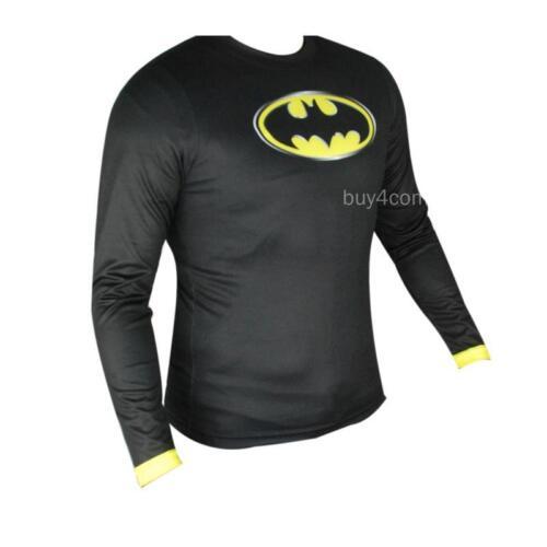Man Marvel Heroes Costume T-shirt Superhero L//S Sleeve Running Tops Jersey Tee-9