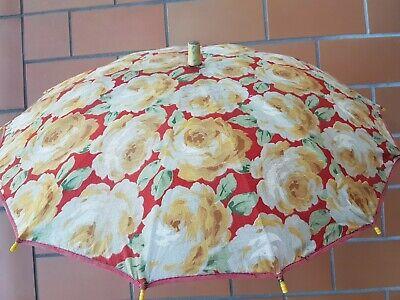 Raro Antico Ombrello :epoca 1930-1940 -eccezionali I Colori E Il Manico Perfetto L'Ultima Moda