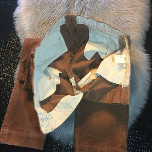 Rare Mens Jeans Fly Button Pants sample Rusty Brown Jds Wash Nice Nwot 6X8qv0x