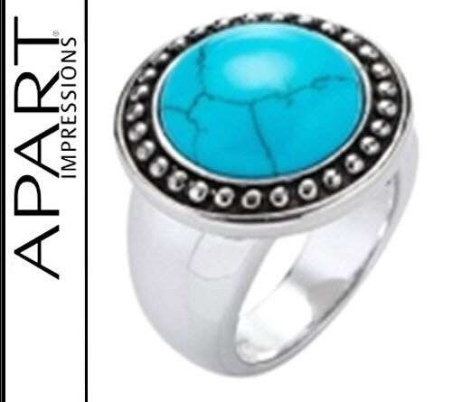 283295 anillo 925er-Sterling plata gran turquesa-piedra 16 20 21 apart 80 € Nuevo